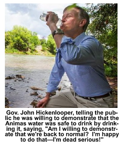 Gov drinks water